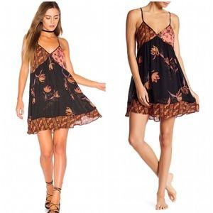 Free People All Mixed Up Boho Gypsy Style dress Lg